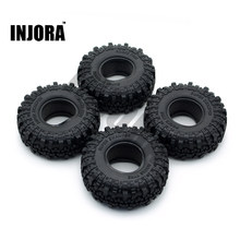 "4PCS 1.9"" Rubber Tyre / Wheel Tires for 1:10 RC Rock Crawler Axial SCX10 90046 Tamiya CC01 D90 D110(China)"