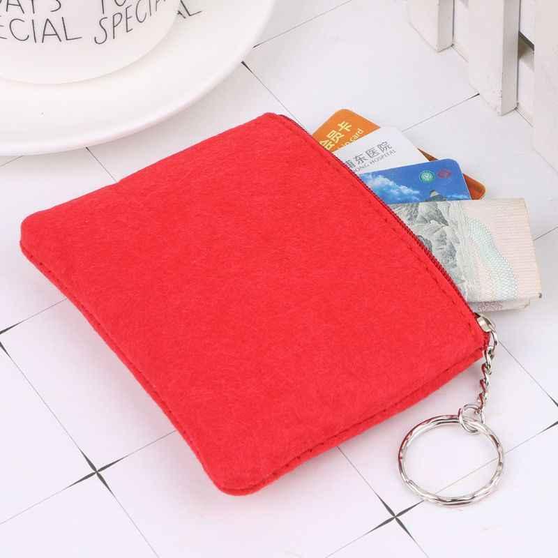 Mulheres Menina Macia Senti Titular do Cartão Bolsa Carteira Zip Embreagem Pequena Mudança Saco Chave Moeda