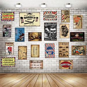 Barber Shop Tin Metal Sign Plaque Metal Vintage Wall Pub Cafe Shop Home Art Decor Iron Poster Cuadros DU-1265
