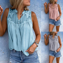 WomenS Sexy Tops Lace V-Neck Solid Color Suspenders Slim Summer Sleeveless Top Vest Tank