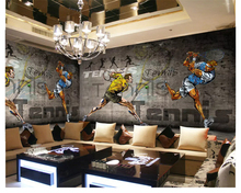 Custom wall wallpaper fashion background sports  papel de parede tapety