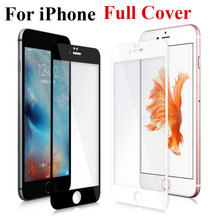 Full Cover Screen Protector Tempered Glass For iPhone 6 6S Plus 6Plus 7 8 Plus X 5S SE 5 S XR XS Max 2018 Protective Front Film(China)