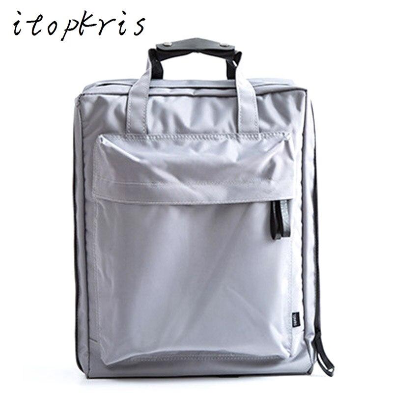 Itopkris Waterproof Designer Student School Bag Casual Handing Women Backpack Large Capacity Couple Backpack Travel Luggage Men