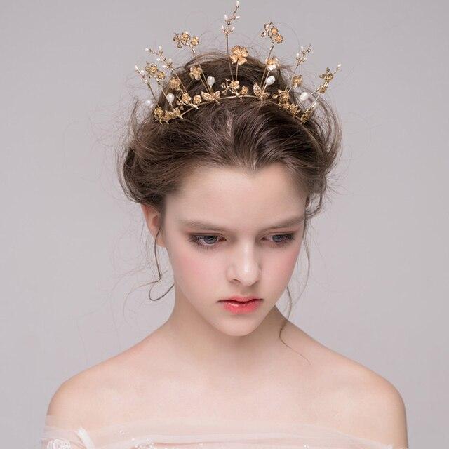 aliexpress buy baroque gold bridal crown wedding tiara