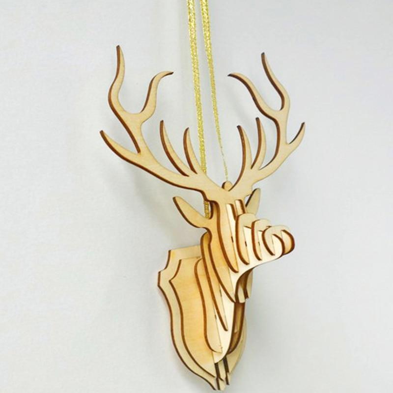 Original QITAI 2019 1 buc Bucată de furnir din lemn model de lemn Vintage Birdcage Meșteșuguri accesorii pentru decorarea casei DIY mâna cerb WF107