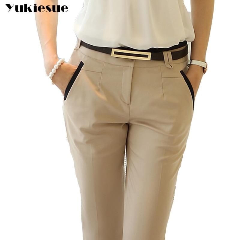 60b4286b292 OL office work wear suit pants women 2017 high waist skinny slim formal pencil  pants female