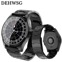Smart Watch DH19 Luxury Full Stainless Steel Wristwatch relogio invicta Bluetooth Call Reminder Music Camera for Men Business