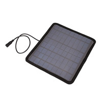 Portable 18V 5.5W Solar Panel Bank Car Automobile Battery Solar Power Panel Charger Outdoor Camping