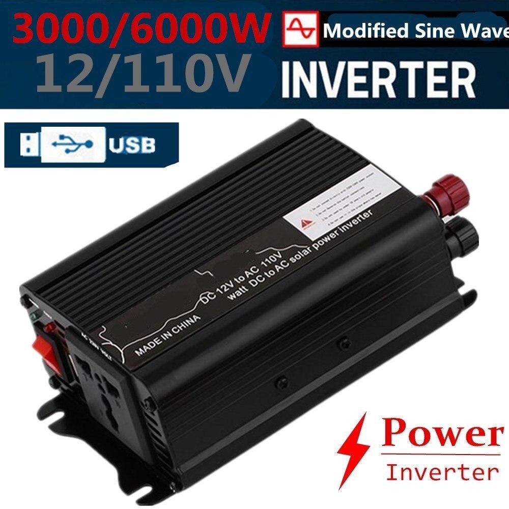 Erneuerbare Energie 4000w Peak Modified Sine Wave Power Inverter Dc 12v To Ac 220v Car Caravan Sd Solarenergie