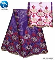 LIULANZHI cotton bazin fabrics 2019 high quality embroidered bazin dress african fabric Bazin riche fabrics 7yards ML39B34