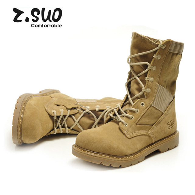 Men winter boots Genuine Leather Tactical Men's working Combat Hunting Military Boots Suede Stitching Canvas size 39-44