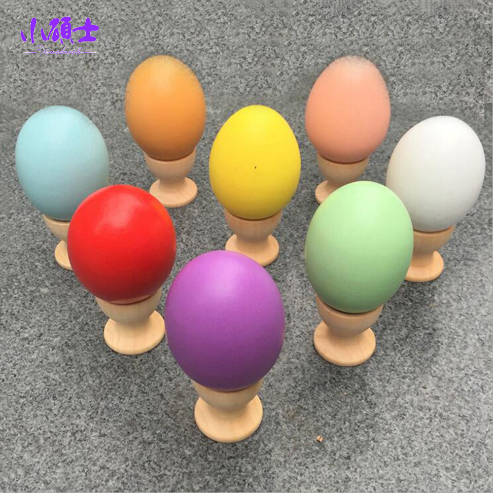 Wooden Egg Kid Pretend Play Toy Kitchen Food Children Christmas Easter Learning Education Games Gift