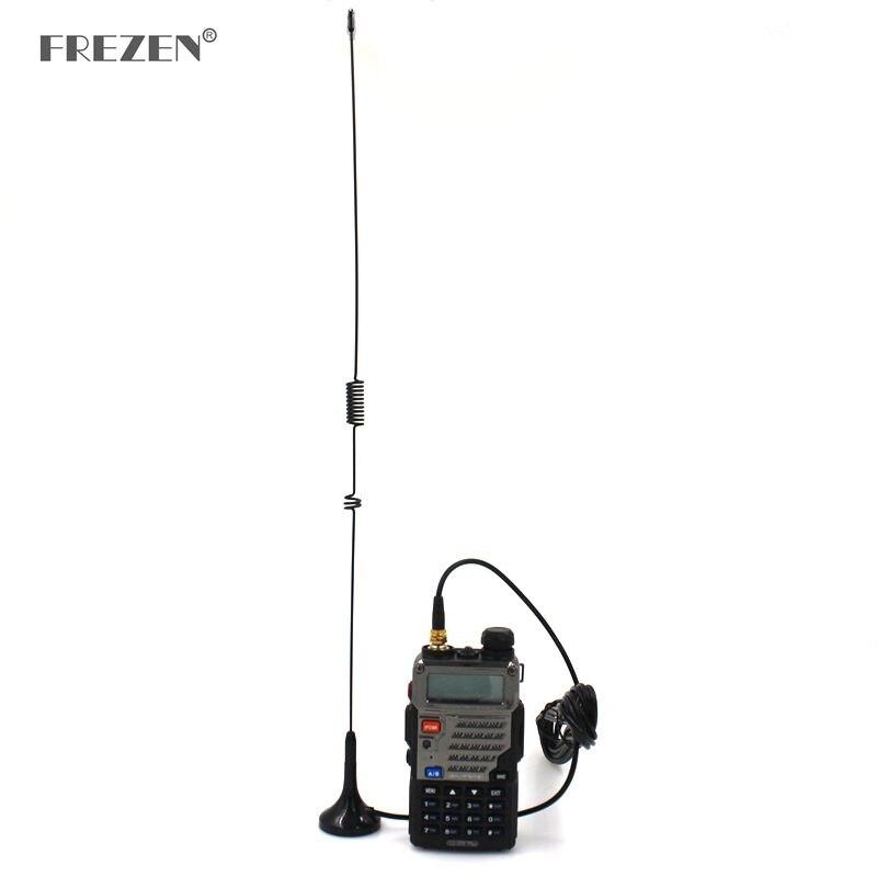 Antena del coche UT-106 SMA-hembra magnética HF vehículo montado antena para Baofeng 888 s UV-5R dos vías Walkie talkie Accesorios