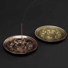 PINNY 12 Chinese Zodiac Circle Incense Holder Alloy Stick Base Room Decoration Meditation Metal Crafts Burner