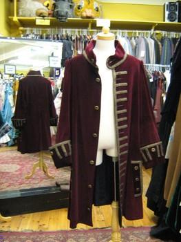 Chaqueta colonial rococó para hombre, disfraz de pirata, Capitán, disfraz con gabardina, chaqueta para hombres y adultos, chaqueta roja de pirata para mujeres