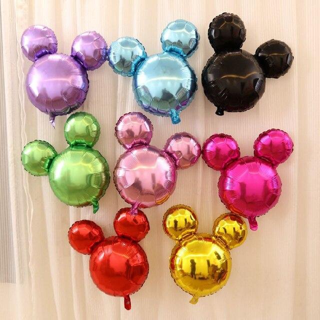 50 pc mini mickey mouse tête ballon rose minnie ballon décoration enfant de fête d'anniversaire ballon d'hélium jouets