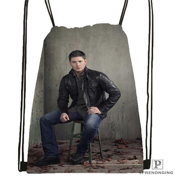 Custom Jensen Ackles Drawstring Backpack Bag Cute Daypack Kids Satchel Black Back 31x40cm 2018611 213