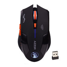 AZZOR Wireless 6D Rechargeable 2400DPI 6 Buttons Optical Pro Gaming Mouse For PC(China)