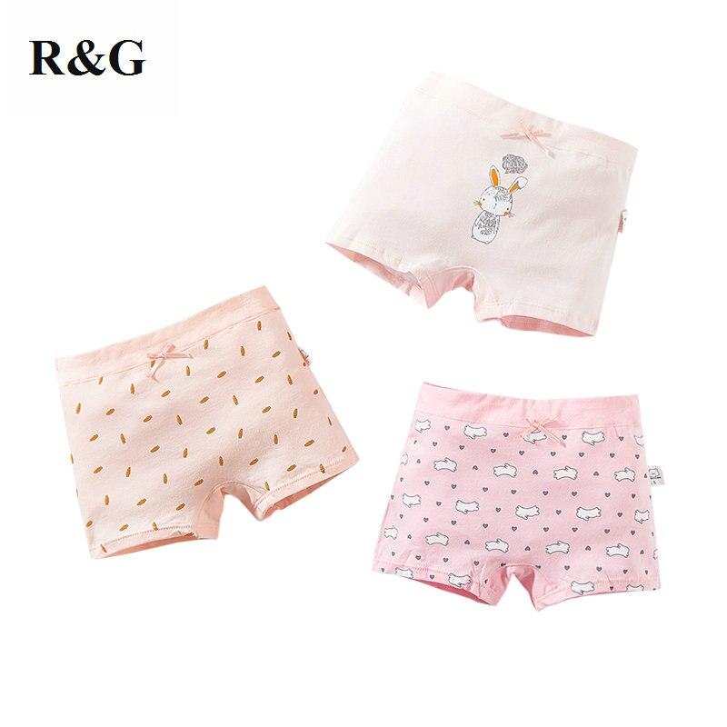 3 pcs/lot sous-vêtements pour fille coton cartoon lapin et carotte rose boxer slips culotte pour enfants 2-12 ans 2019 nouveau-606 (lot de 3)