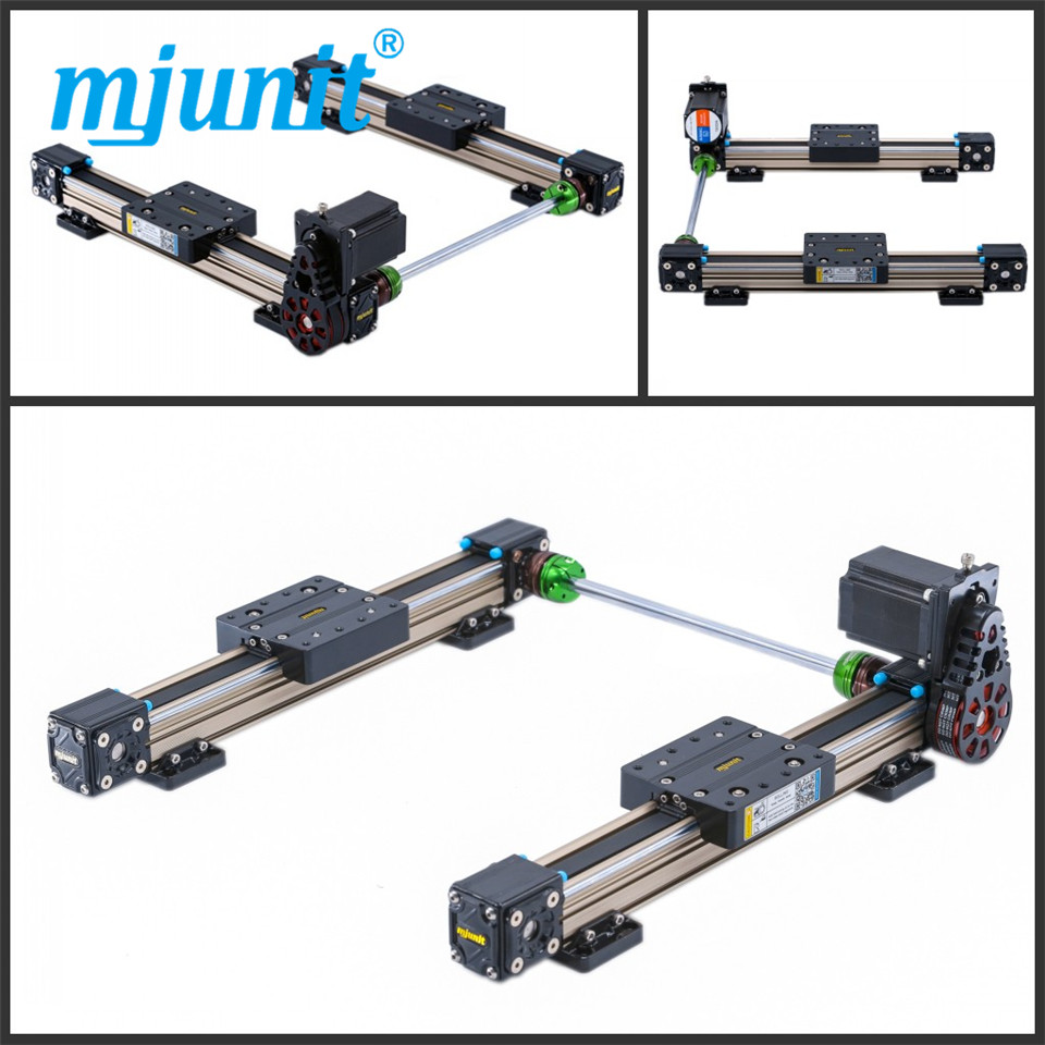 mjunit MJ40 effective length Cnc 15kg load low price linear guide rail for one axis with 2250mm stroke 2 rails