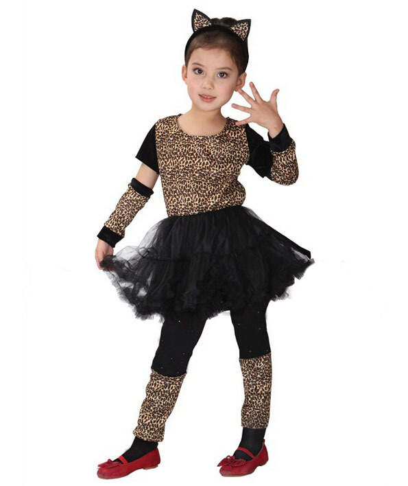 aliexpresscom buy free shipping baby girl cosplay clothes naughty pretty leopard girl childrens day halloween carnival party dress from reliable cosplay - Naughty Girl Halloween Costumes