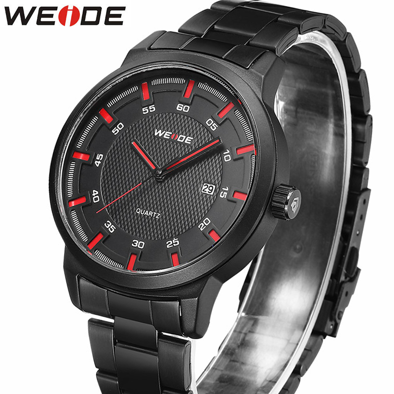 WEIDE NEW Men's Watches Top Brand Luxury Men Quartz Watch Man Stainless steel watch band Fashion Sport Clock Relogio Masculino weide luxury brand men watch led backlight clock stainless steel quartz watch sport watches male relogio masculino de luxo