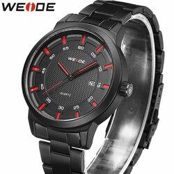 WEIDE nowe męskie zegarki Top marka luksusowe mężczyźni zegarek kwarcowy człowiek ze stali nierdzewnej zegarek ze stali zespół mody zegarek sportowy Relogio Masculino