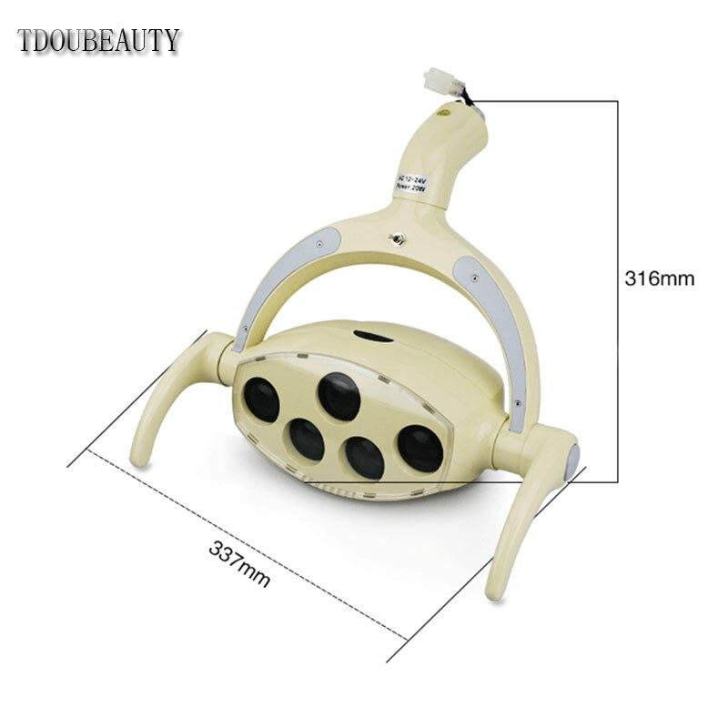 Oral Implant lamp LED Sensor Light Dental Chair Light Cold Light Induction Control On Or Off +8 Level Brightness Adjustable