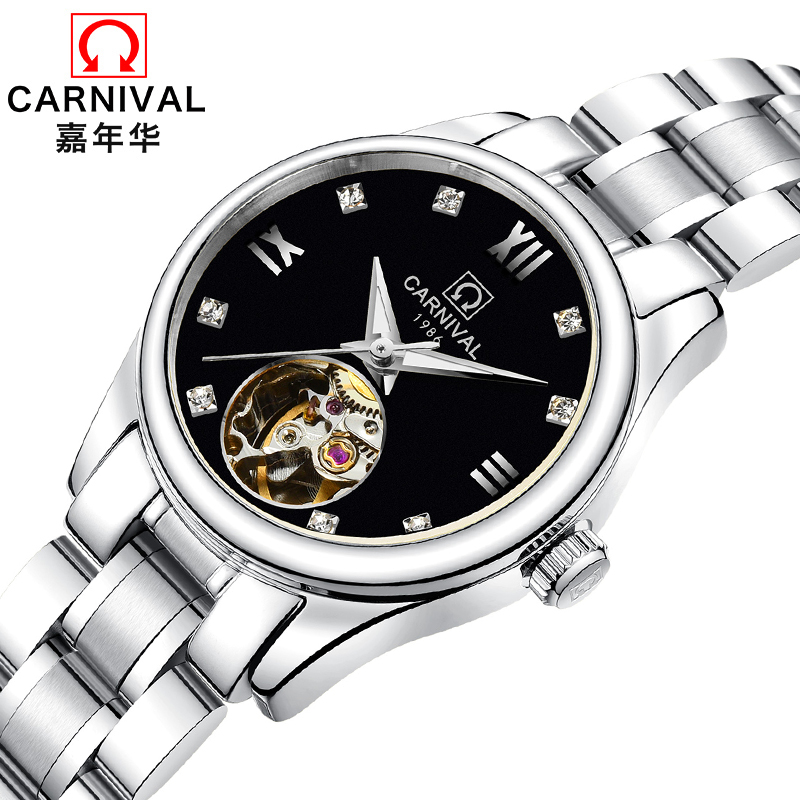 Luxury Brand Carnival Women Watches ladies Automatic Mechanical Watch Women Sapphire Waterproof relogio feminino Clock C8789L-1 luxury brand carnival women watches ladies automatic mechanical watch women sapphire waterproof relogio feminino clock c8789l 2