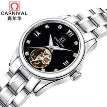 c83c76c6ee3 Carnaval de luxo Da Marca Mulheres Relógios ladies Relógio Mecânico  Automático Mulheres Relógio relogio feminino Relógio