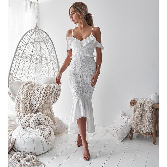 Formal Party And Dinner Dresses For Women White Red Dress Elegant Cocktail  Dresses Plus Size Clothing Summer Off Shoulder Dress c048db984702