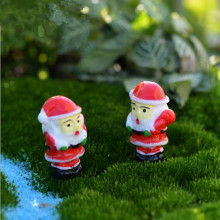 20pcs/lot Miniature Santa Claus DIY Fairy Garden Micro Dollhouse Plant Pot Decor Bonsai Terrarium Ornament christmas decoration