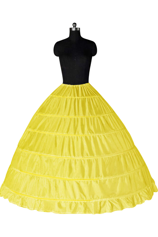 Encaje borde 6 aro enaguas para vestido de fiesta vestido de novia 110 cm diámetro ropa interior Crinoline accesorios de boda