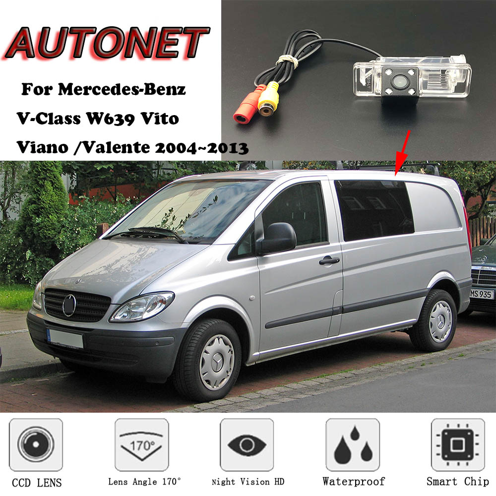 AUTONET Backup Rear View camera For Mercedes-Benz V-Class W639 Vito  Viano  Valente 2004 2013 Night Vision license plate camera
