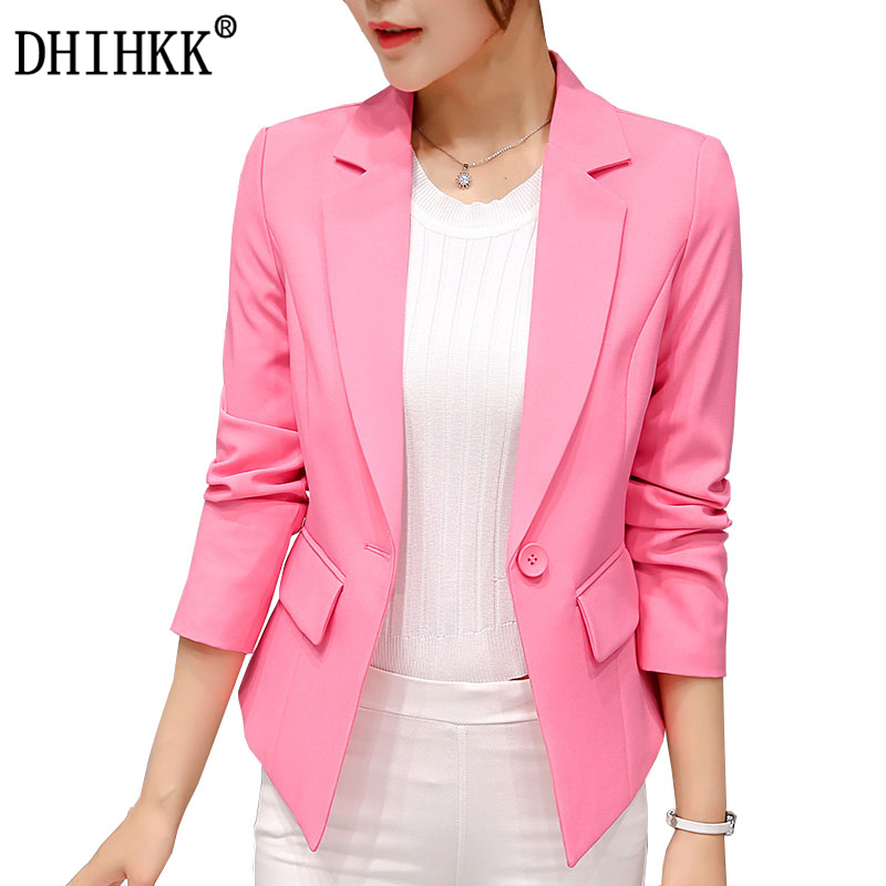 dhihkk базовая куртка мода блейзер для женщин костюм кардиган с длинным рукавом розовый бренд пальто и пуховики формальный костюм куртка женщина 317rx