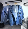 Doudoune Femme Mujeres Básicas Flojas Jeans Abrigos Chaqueta de Mezclilla Azul 2017 de La Moda de Primavera Harajuku Novio Coreano Señoras Chaqueta
