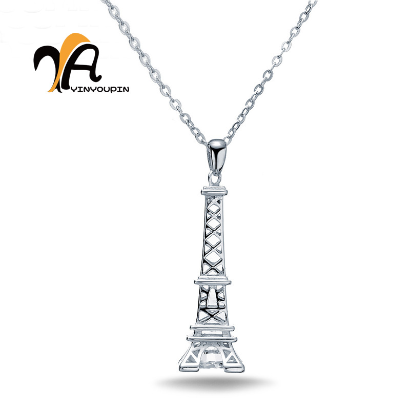 YAYIN YOU PIN S925 Pure Silver Necklace Day Tower Modeling Light And Extravagant Large Fresh water Pearl Jewelry Store Professio