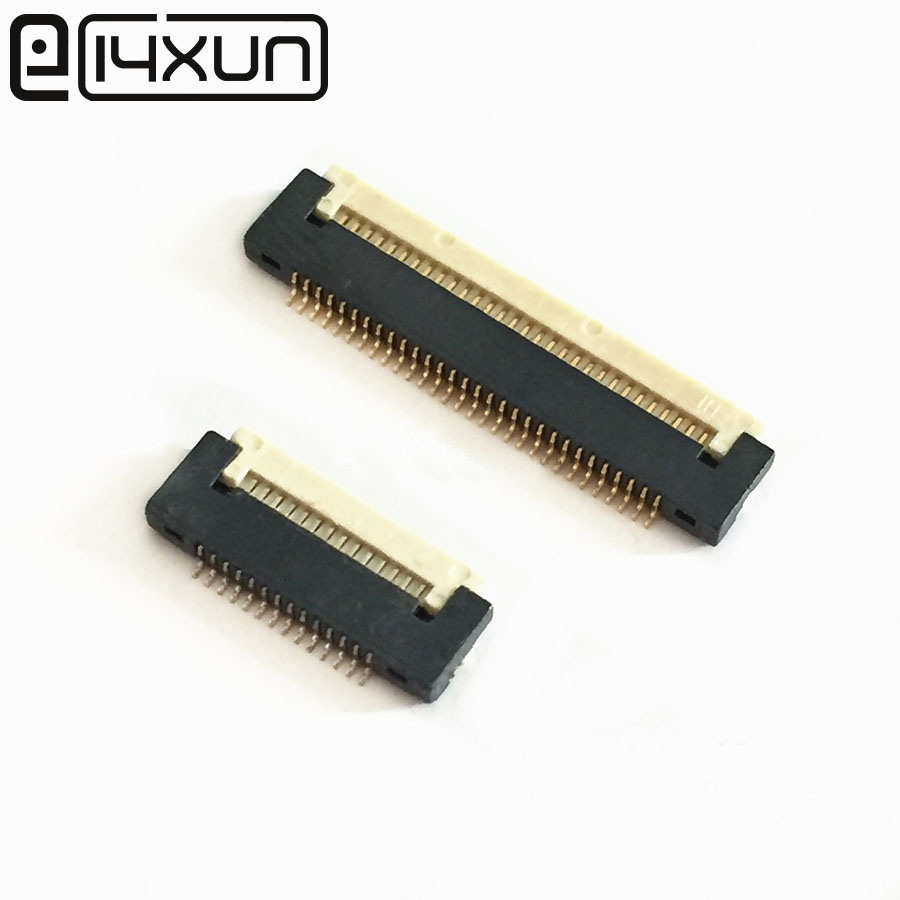 2pcs/lot FPC FFC flat cable <font><b>connector</b></font> socket 0.5mm Pitch 18/20/21/22/24/25/26/28/30Pin SMD/SMD H=<font><b>1.5mm</b></font> for LCD interface image