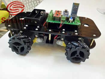 อย่างเป็นทางการ smarian omni ล้อรถอัจฉริยะแพลตฟอร์มจาก DIY Crawler Tracked รุ่นหุ่นยนต์ฐาน