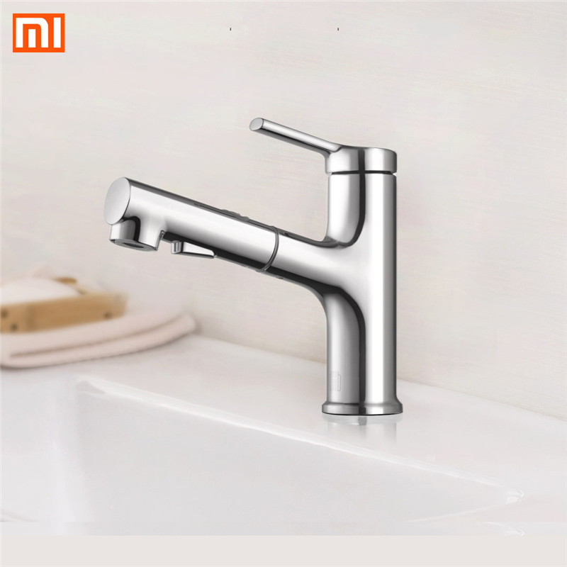 Xiaomi DABAI Bacia Banheiro Torneira Da Pia Pull Out Pulverizador Rinser Gargarejo Escovar 2 Modo Tap Cold & Hot Mixer Xiaomi torneira de Água - 3