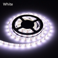300LEDS 2835 LED Strip White DC12V 5m Non waterproof/Waterproof PCB Width 8mm Led Flexible Light With 5A Power Adapter EU