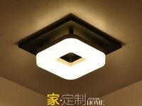 مربع سقف الممر أضواء الممر ضوء مدخل أضواء الحديثة led السقف مصباح شرفة قاعة الإضاءة 20 سنتيمتر ZL399-في أضواء السقف من مصابيح وإضاءات على