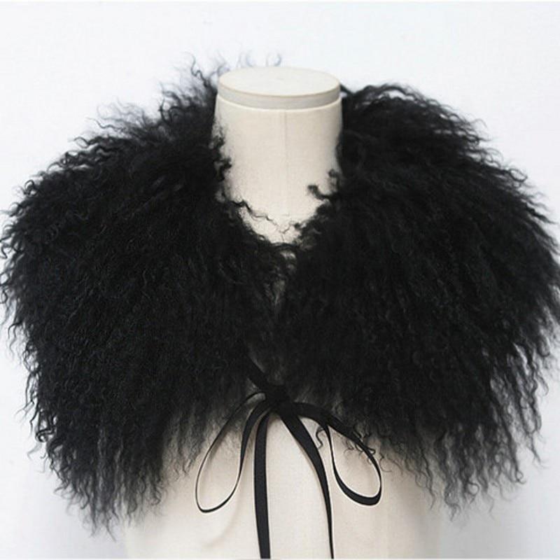 La vraie fourrure de renard écharpe de mode collier écharpe en laine plage  sable moutons maomao maxillaire femme tannées fourrure châle femmes en hiver 4432f2ed4b7