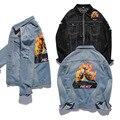 Palace Jacket Mens Denim Jacket Men Fashion Hip Hop Windbreaker Kanye West Palace Skateboard Denim Jacket