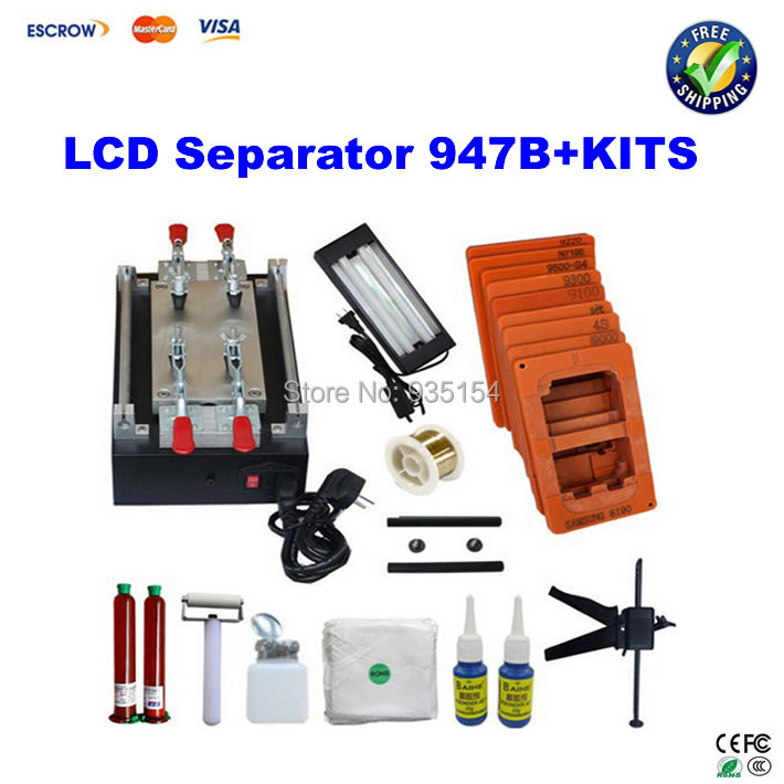 Free shipping 948Q+ 11 inch 110/220V Build-In Air Pump Vacuum LCD Separator Machine Screen Repair Machine For iPhone Samsung