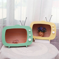 INS Wooden TV Box Shelf TV Frame Decoration For Kids Baby Boys Girls Room Decor Miniature