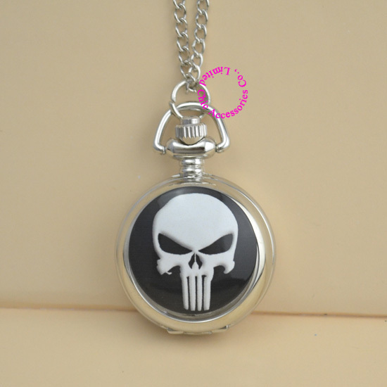 New Donne Della Signora Girl Unisex Super Hero The Punisher Orologio Da Tasca Cr