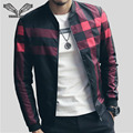 2017 Spring New Arrival Men's Jackets Patchwork Casual Brand Clothing Stand Collar Design Long Sleeve Male Outwear 5XL N1183
