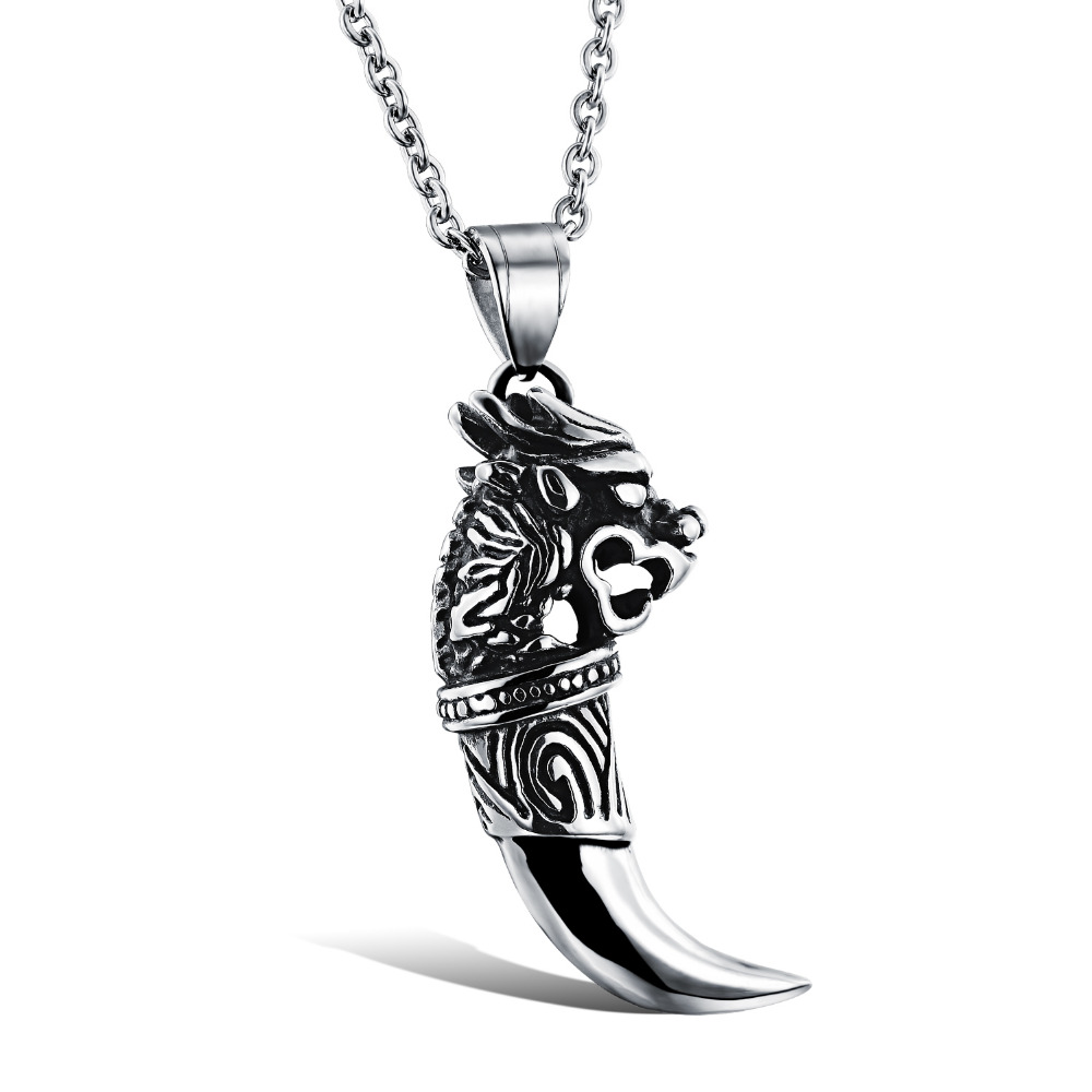 OPK Brand Fashion New 2015 Dragon Design Cool Man Pendants Punk Rock  Stainless Steel Personality Men Jewelry Necklaces, 943-in Pendant Necklaces  from ...