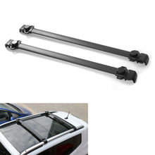 BBQ@FUKA 2x Car Baggage Luggage Roof Rack Rail Cross Bar Crossbar Carrier Fit For Jeep Renegade 2015-2017 Car Accessary